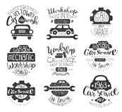 Mechanic Workshop Vintage Stamp Collection Stock Photography