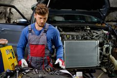 Mechanic in a workshop Royalty Free Stock Photo