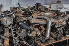 Mechanic Workshop Broken Vehicle Parts Royalty Free Stock Image