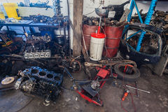 Mechanical Workshop Vehicle Repairs Royalty Free Stock Images