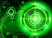 Mechanical abstract background. On green background stock illustration