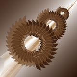 Mechanical abstract background. Stylized images of gears royalty free illustration