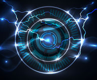 Mechanical abstract background. Mechanical and thunderbolt abstract background vector illustration
