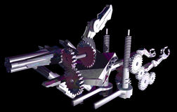 Mechanical abstraction 2. Mechanical abstraction, created with 3d studio Max stock illustration