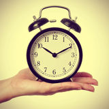 Mechanical alarm clock, with a retro effect Royalty Free Stock Images