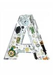 Mechanical alphabet made from electronic part Royalty Free Stock Photography