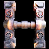 Mechanical alphabet made from iron. Stock Photography