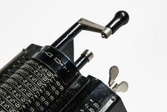 Mechanical arithmometer - calculator made in USSR Royalty Free Stock Photo