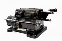 Mechanical arithmometer - calculator made in USSR Stock Photography