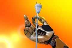 The mechanical arm Royalty Free Stock Images