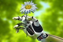 The mechanical arm Royalty Free Stock Photography