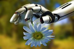 The mechanical arm Royalty Free Stock Photo