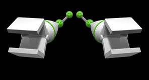 Mechanical Arms Reaching Forwards Royalty Free Stock Photo