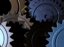 Mechanical Background. Different device creating background to technologies3d render Stock Image