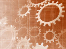 Mechanical background Royalty Free Stock Image