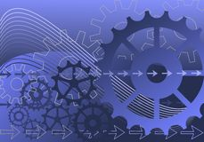 Mechanical background Stock Photography