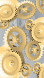 Mechanical Background with Gears. A Mechanical Background with Gears and Cogs 3d Royalty Free Stock Image