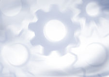 Mechanical background with gears Royalty Free Stock Photography