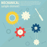 Mechanical Background Royalty Free Stock Photography