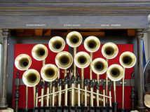 Mechanical Band. Machine made music. Mechanical band reduces cost of parade royalty free stock photography