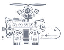 Mechanical behemoth. Small mechanical behemoth with a propeller royalty free illustration