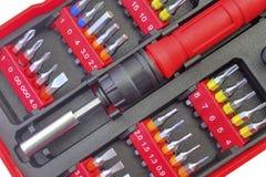 Mechanical bit tool set Royalty Free Stock Image