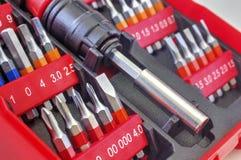 Mechanical bit tool set Stock Photo