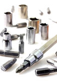 Mechanical bit tool set Royalty Free Stock Images