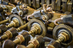 Mechanical Brass Cogs Royalty Free Stock Photo