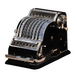 Mechanical calculator stock photo