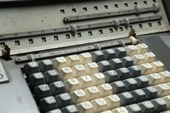 Mechanical calculator display Stock Photos