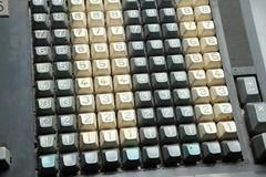 Mechanical calculator keyboard Royalty Free Stock Photo