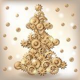 Mechanical Christmas tree Stock Photography