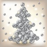 Mechanical Christmas tree Royalty Free Stock Image