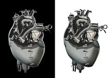 Mechanical chrome heart Royalty Free Stock Photography
