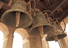 Mechanical church bells. In catholic church tower Royalty Free Stock Photos
