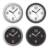 Mechanical Circle Clock Dial Set. Vector Royalty Free Stock Photo