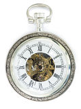 Mechanical clock with cover. White isolated Royalty Free Stock Photography