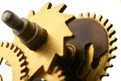 Mechanical clock gear Royalty Free Stock Photos
