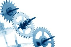 Mechanical clock gear Stock Photography