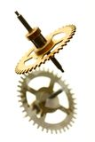 Mechanical clock gear Royalty Free Stock Image