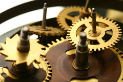 Mechanical clock gear Stock Images