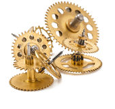 Mechanical clock gears Stock Image