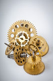 Mechanical clock gears Royalty Free Stock Images