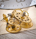 Mechanical clock gears Stock Photo