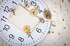 Mechanical clock gears Royalty Free Stock Image