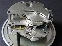 Mechanical clock mechanism Stock Photography