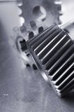 Mechanical close-up in bluish Royalty Free Stock Images