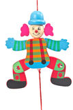 Mechanical clown toy on string Royalty Free Stock Photography