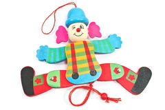 Mechanical clown toy on string Royalty Free Stock Image